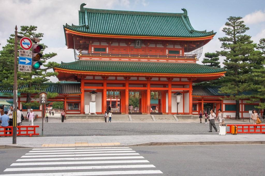 Heian Shrine's main gate