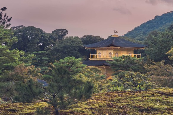 Side view of Kinkakuji