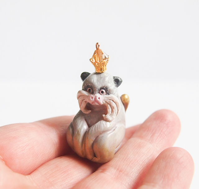 An emperor tamarin by Mai Darling Designs