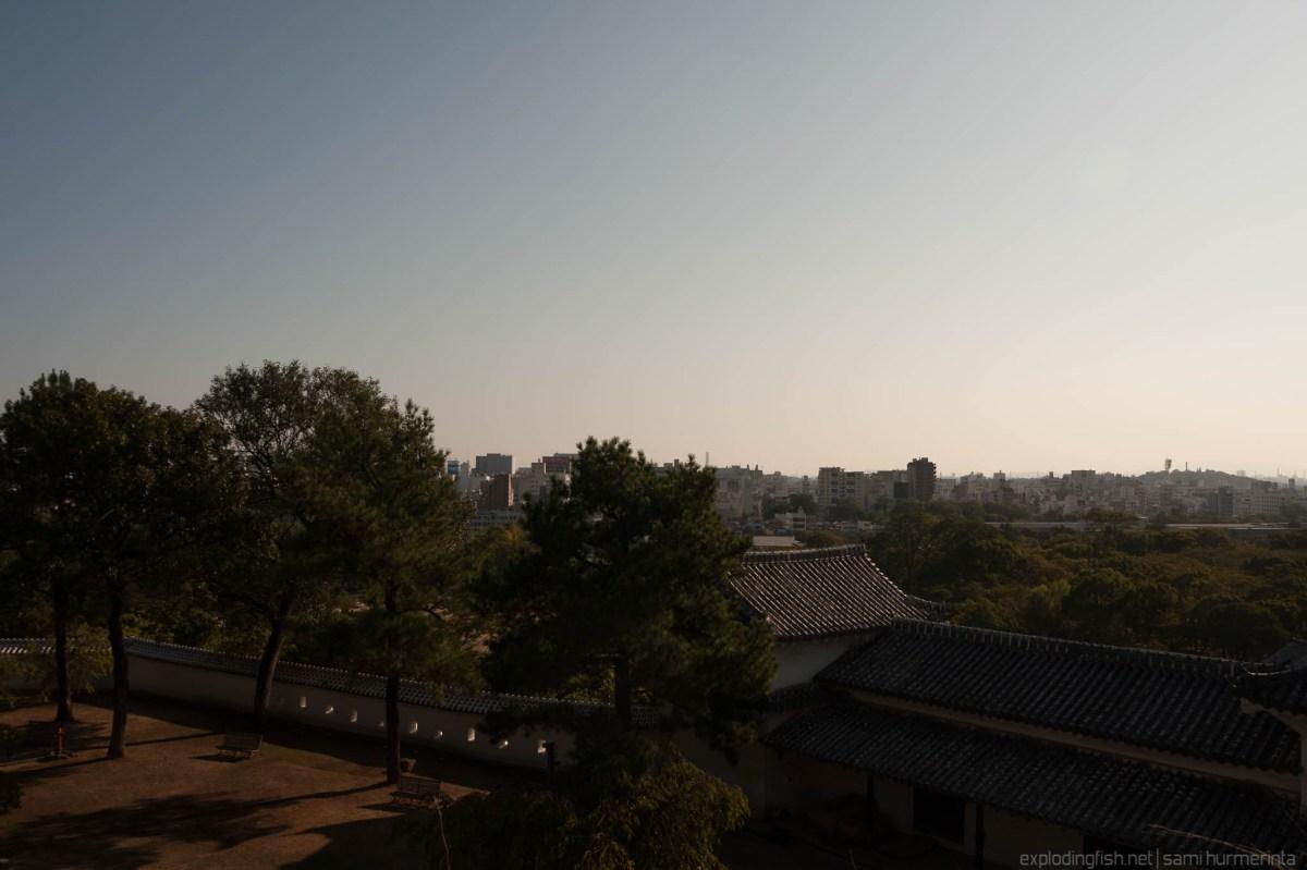 Sunset at Himeji - raw image
