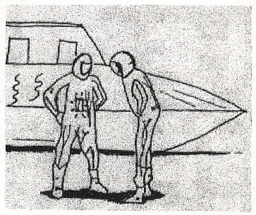 Representación de los humanoides observados.