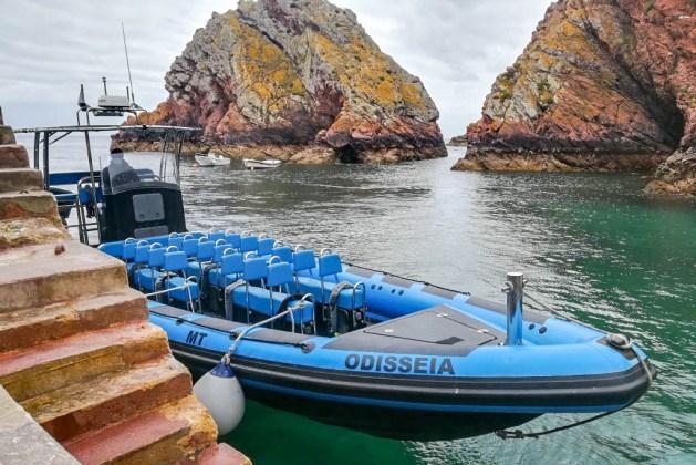 Barco rápido Odisseia em que fomos para a ilha da Berlenga