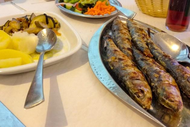Sardinha de Peniche Assada no Restaurante a Sardinha