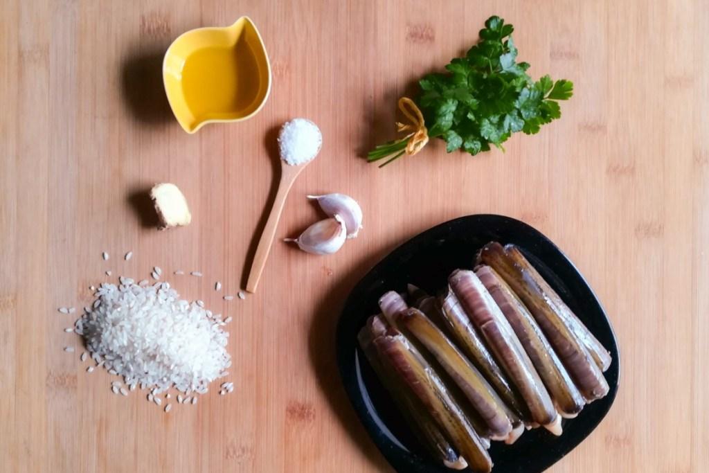 Principais ingredientes do Arroz de Ligueirão