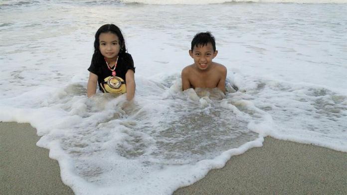 sejuk air pantai