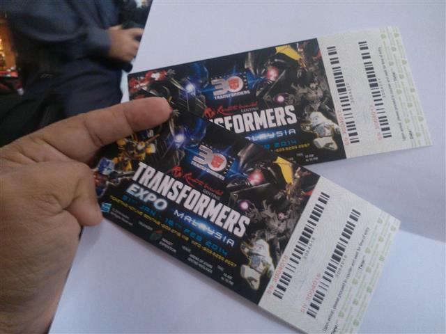 tiket untuk tengok transformers
