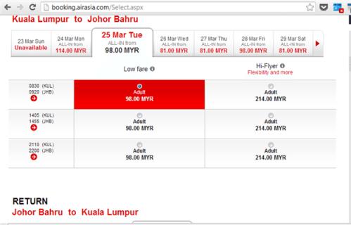 harga tiket AirAsia yang murah