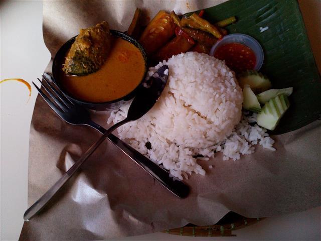 gambar set nasi berlauk