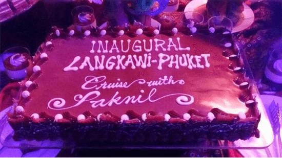 kek untuk party buffet cokelat