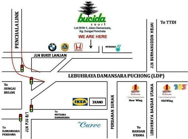 Peta Lokasi Bucida Court