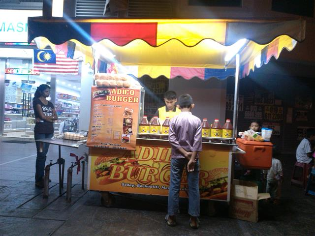 gambar stall burger