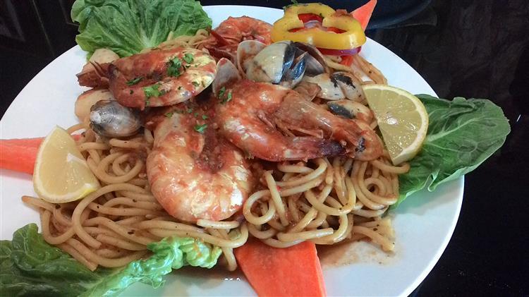 the mozer's spaghetti seafood