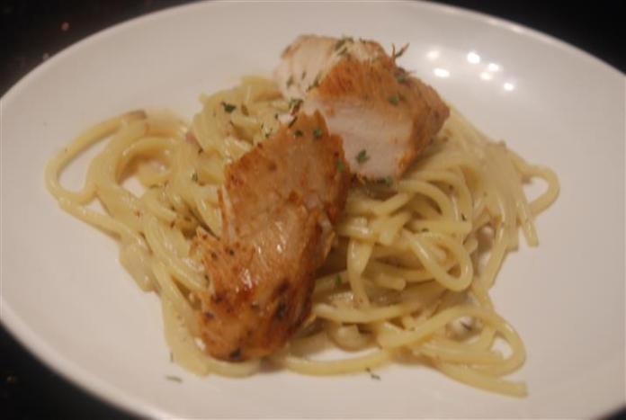 spaghetti ayam pak john steamboat