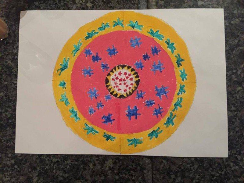 Lukisan Mandala Abam Hoq