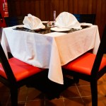 old school steakhouse-couple-table