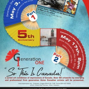"""Generation One 2014, 5th Anniversary Art Exhibition: """"So This Canada!"""