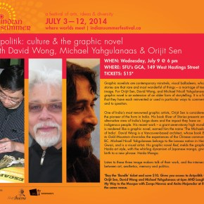 ARTPOLITIK: Culture and the Graphic Novel w/ David Wong, Michael Yahgulanaas and Orijit Sen