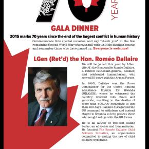 Gala Dinner to celebrate the 70th anniversary of the end of World War II