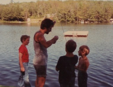 My brother and family friends, c. 1982