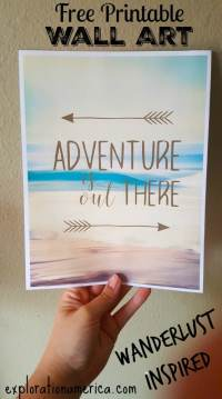 Printable Travel Wall Art: Adventure is Out There