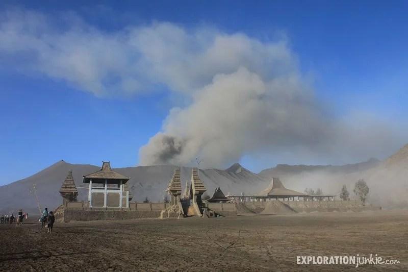 Mount Bromo volcano Temple