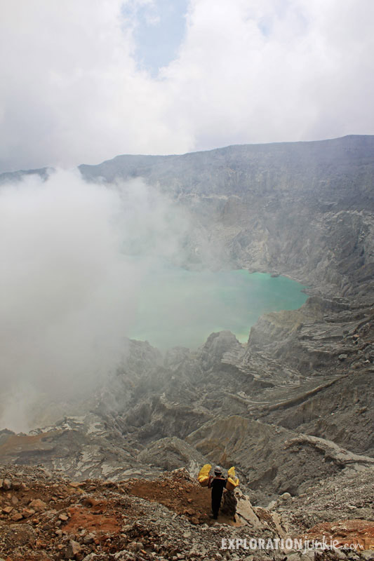 Ijen Crater miner