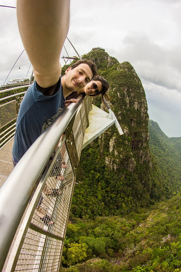 On the Sky Bridge of Langkawi, Malaysia