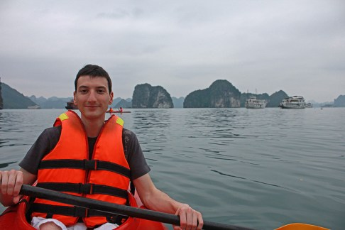Kayaking the Halong Bay, Vietnam