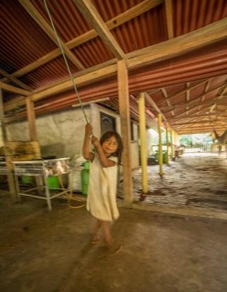 Playful Kogi kid at Mumake Camp