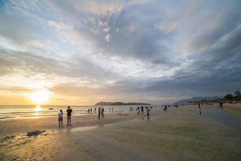 Watching The Sunset On Cenang Beach, Langkawi, Malaysia