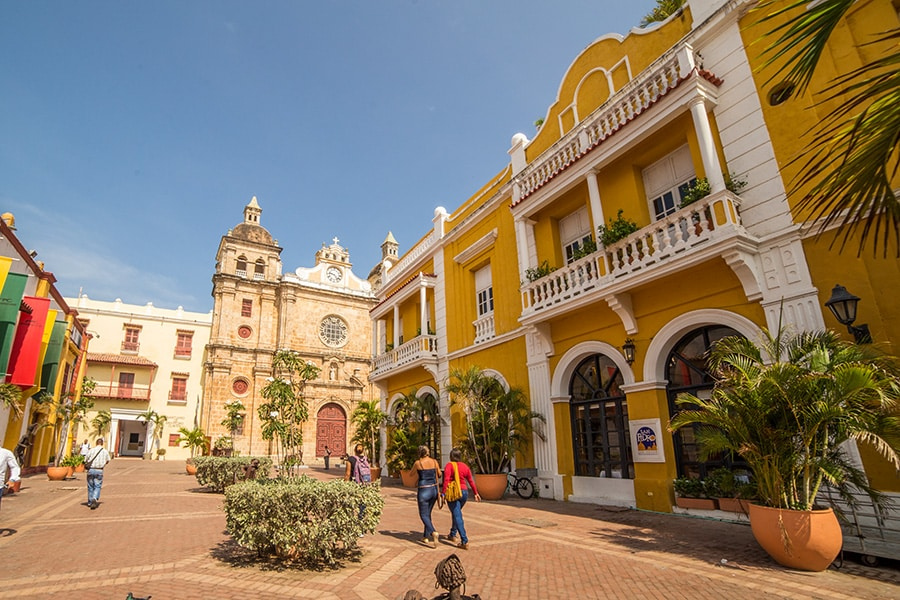 Cartagena old town walled city