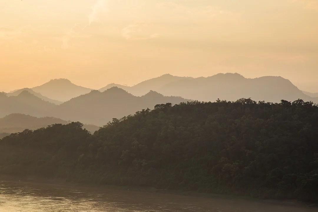 Golden light on the Mekong