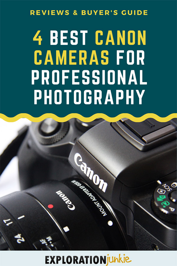 Canon Cameras for Professional Pinterest Image