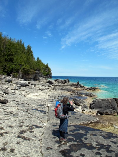 Hiking outfit. Bruce Peninsula National Park.