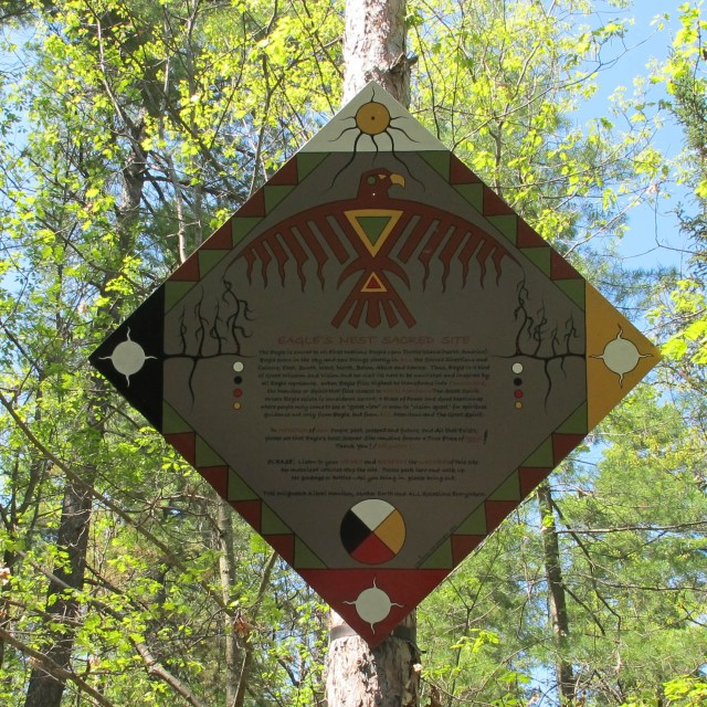 Eagle's Nest Lookout Sign
