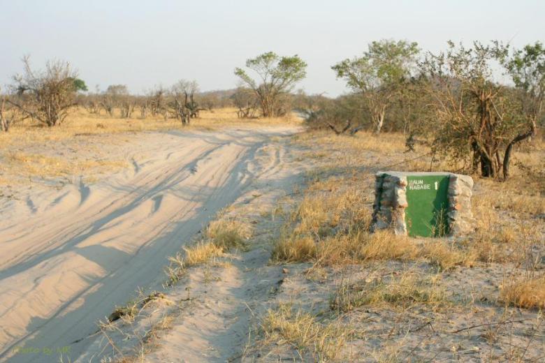 Botswana - ExplorationVacation Img_2107 sign near Savuti
