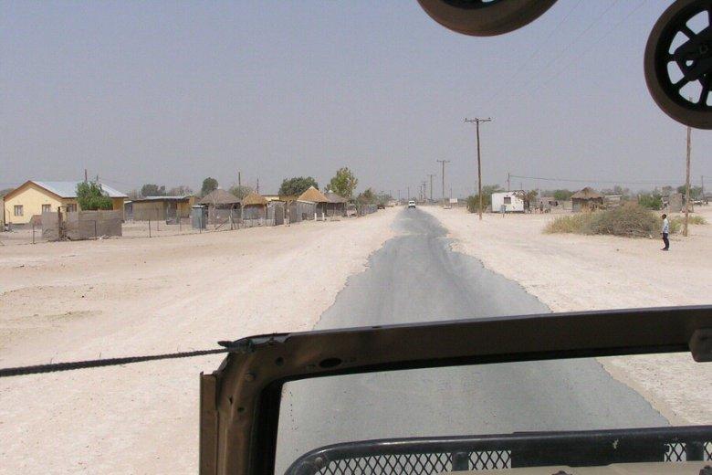 Rokops along the road to Maun, Botswana - ExplorationVacation.