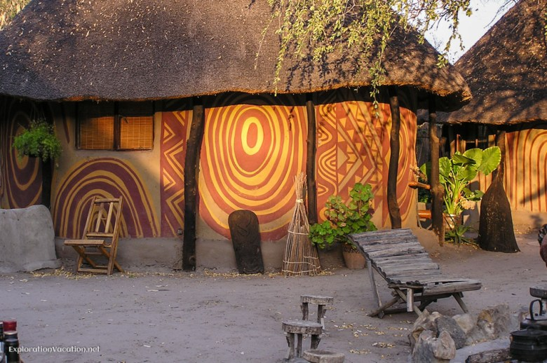 Traditional lodging at Betty's bed and breakfast in Maun, Botswana - ExplorationVacation
