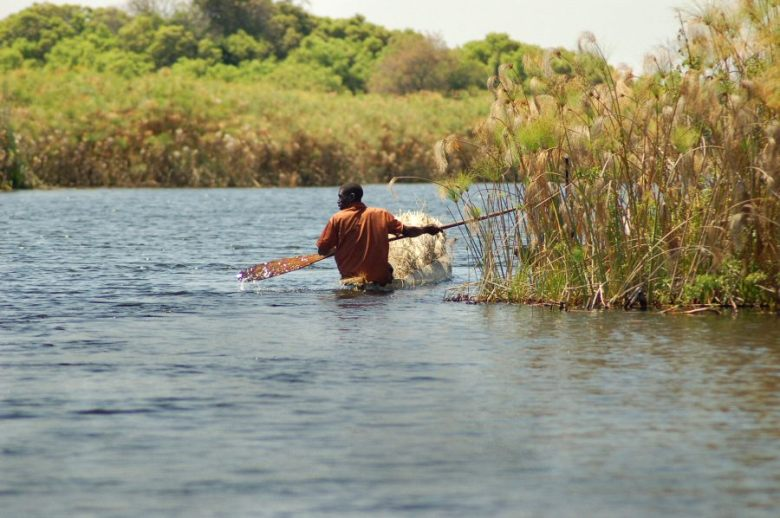 Botswana Okavango - ExplorationVacation - 09-17_04-57-17 local paddlers