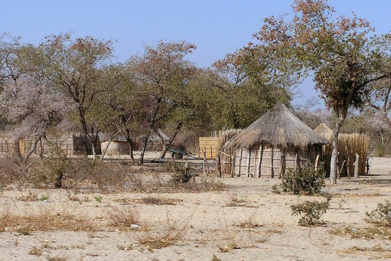 Botswana village - ExplorationVacation - P9150112 village2