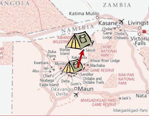 to Savuti map