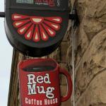 Red Mug sign