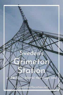 looking up at a radio tower