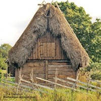 Traditional rural farm building in northern Gotland, Sweden - ExplorationVacation