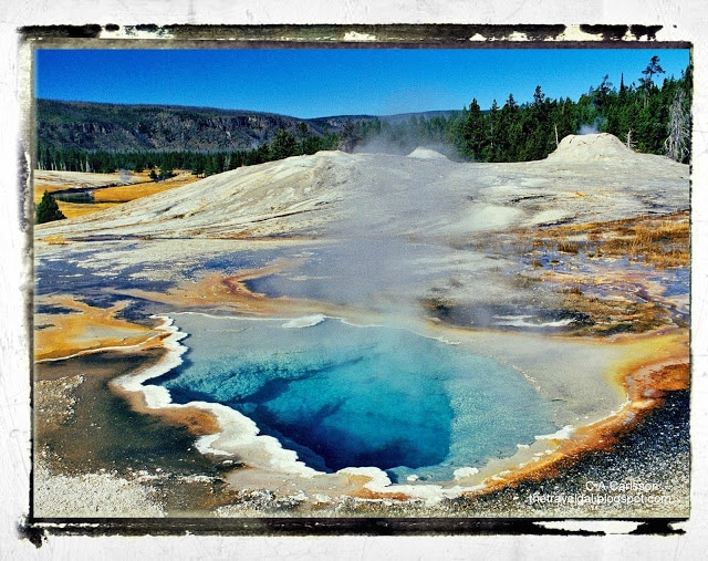 geyser basin Yellowstone National Park - www.ExplorationVacation.net