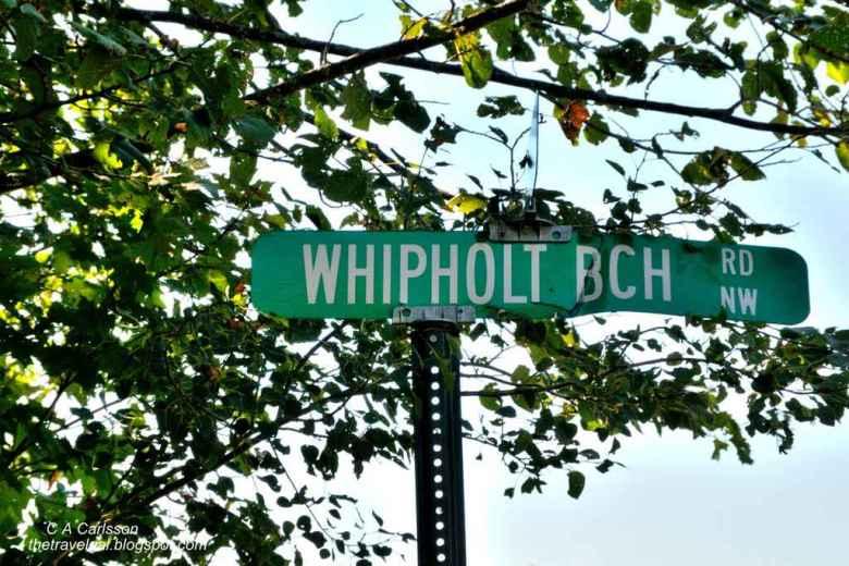 10-Leech Lake 24 DSC_5255 Whipholt Beach Road sign in Minnesota