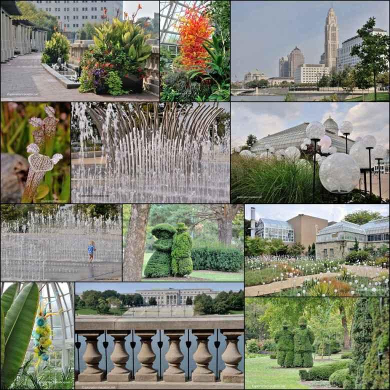 botanical garden and sculpted juniper garden in Columbus Ohio