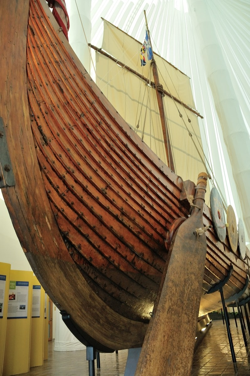 The Hjemkomst Viking Ship in Moorhead, Minnesota