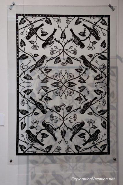 20140202-3 DSC_3348 paper cutting by Karen Bit Vejle at the American Swedish Institute, Minneapolis, Minnesota