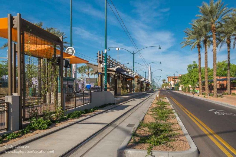 Valley Light Rail in Mesa - www.ExplorationVacation.net